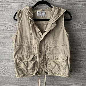 Columbia Tan Utility with Pockets & Hoodie Vest